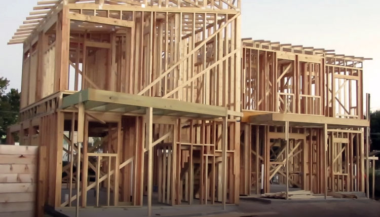Alpha-Builders-Group-Modern-Homes-On-Tillery-Street-Austin-Texas-Framing